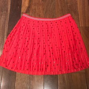 Justice Size 12 Red Polka Dot Skirt